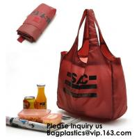 POLYESTER NYLON BAGS, BASKET, ECO CARRIER, REUSABLE TOTE BAGS, SHOPPING HANDY HANDLE VEST, FOLDABLE