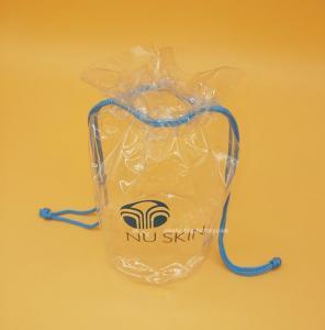 Soft Clear PVC drawstring Organizer Bag for Cosmetics, Personal belongings