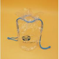 Quality Soft Clear PVC drawstring Organizer Bag for Cosmetics, Personal belongings for sale