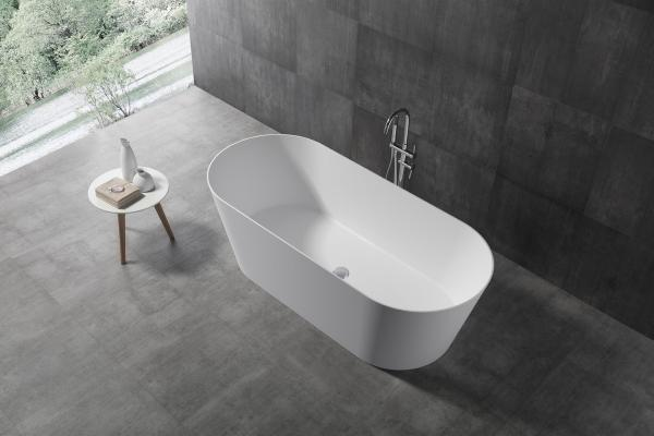 Quality Hot Sale Modern Freestanding Artificial Stone Bathtub made in China Wholesale factory XA-8861 for sale