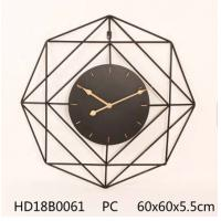 Buy cheap Decoration Black Metal Large Wall Clockunique design large rustic wooden/mdf antique wall clock for farmhouse decoration product