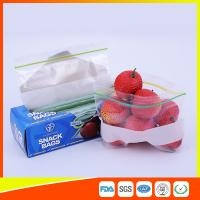 Buy cheap LDPE Transparent Resealable Press Zip Snack Ziplock Bags Air Proof For Packaging product