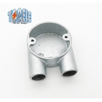 Buy cheap Branch 2 Way U Malleable Iron Box BS4568 Conduit Fitting Hot Dip Galvanized product