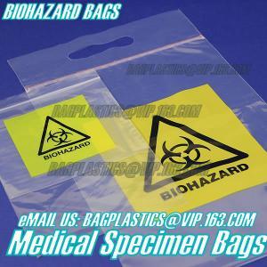 Buy cheap Biodegradable Material LDPE Biohazard Specimen Bag with Zipper, opaque Specimen biohazard zipper bags, lab specimen zipp product