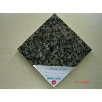 China China Green Granite Kitchen Floor Tiles / Decorative Wall Tiles Polished Honed on sale