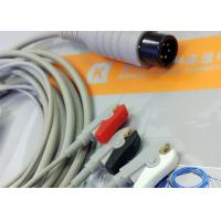Buy cheap Generic AAMI 6 Pin One Piece ECG Patient Cable 3 Leads For Patient Monitoring Equipment product