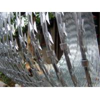 Buy cheap Custom Hot Dip Coating Concertina Razor Wire , Spiral / Flat Razor Wire from wholesalers