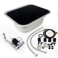 Quality Practical RV Kitchen Sink Single Bowl RV Stainless Steel Sink With Toughened Glass Cover for sale