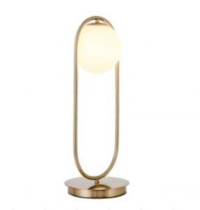 China Hotel Energy Saving Diameter 18.5cm Height 50cm Gold Nightstand Lamp on sale