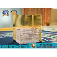 China Thick Stainless Steel Gold - Plated Playing Cards Waste Card Racks , Placing Cards on sale