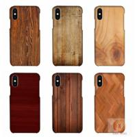 Buy cheap Customized Wood Printed Cell Phone Covers For IPhone X , 3D Sublimation Blank Phone Case product