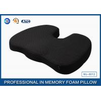 China Orthopedic Memory Foam Coccyx Cushion For Relief Of Tailbone Pain With Non - slip Base on sale