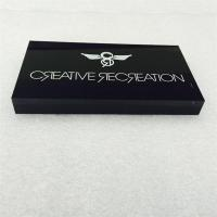 Quality Silk screen printing acrylic LOGO block for sale
