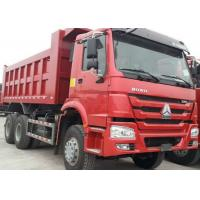 Buy cheap 40t SINOTRUK HOWO Red heavy dump truck with 336hp euro ii emission standard product