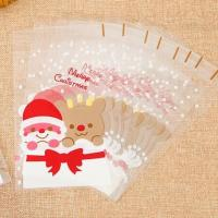 Buy cheap CUSTOM DESIGN CANDY BAGS WITH GOLDEN TWIST TIES CLEAR PLASTIC TREAT BAGS FOR COOKIE CANDY SNACK WRAPPING product