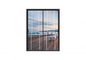 Buy cheap Concave Handle Aluminium Powder Coated Sliding Doors Triple Rail Patio Doors product