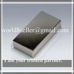 Buy cheap Super N52 Neodymium NdFeB Quadruple-Coated block Rare Earth Magnet for Wind Generator etc product