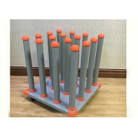 Buy cheap Media Roll Storage Rack 4 X 4 Printing Media Rolls Powder Coated Silver Vein from wholesalers