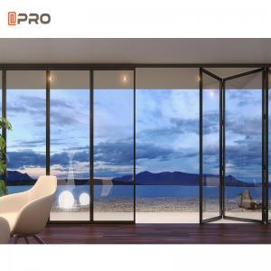 Buy cheap Waterproof Frameless Glass Aluminum Folding Doors For Decorative product
