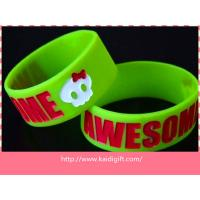 Professional 1 inch Ecrofriendly colorful Sports Silicone Bracelets