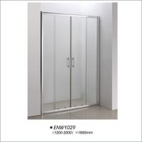 Buy cheap Tempered Glass Shower Doors / Sliding Shower Screens With Frame Easy Installation product