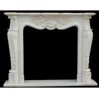Buy cheap White marble flower carving of fireplace frame product