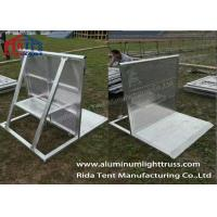 Buy cheap Removable Crowd Control Barriers Smaller Holes Plates Avoid Hurting Fingers from wholesalers