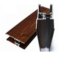 Buy cheap Brown Rectangle Wood Finish Aluminum Profiles For Construction product