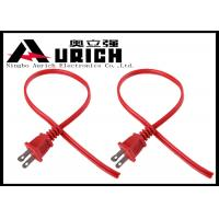 Buy cheap 1.2m Non Polarized NEMA UL Two Prong Power Cable Red Color ODM OEM Service product