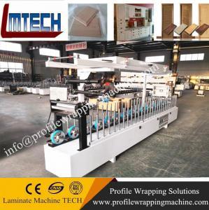 Buy cheap WPC door jamb PVC door pocket Plastic door frame laminating wrapping machine factory product