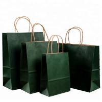 Buy cheap Roller Printing Medium Paper Bags With Handles / Kraft Paper Bags Machine Made product
