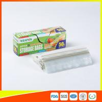 Buy cheap Clear Reclosable Plastic Food Storage Bags Zip Seal With Private Lable product