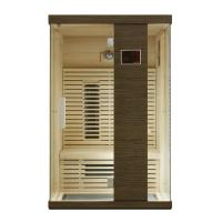 China Solid Wood Ceramic Home Infrared Sauna Room with Color Therapy LED on sale