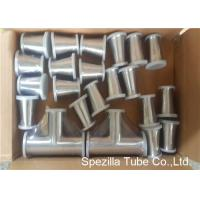 Buy cheap TP316L Sanitary Valves And Fittings 1/2'' - 4'' Stainless Steel Reducing Tee Cross Ends product