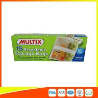 Buy cheap Supermarket Plastic Food Storage Bags / Zip Up Storage Bags Resealable Food Safe product