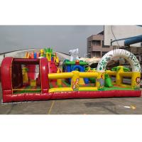Custom Design Commercial Inflatable Theme Park With 0.55mm PVC