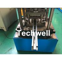 Buy cheap Custom Made Sliding Shutter Door Guide Rail Roll Forming Line With Chain Drive product