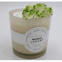 Buy cheap Straight Cup Spraying Coloured Label Environmentally Friendly Vanilla Scented Candles With Metal Lid product