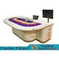 Macao VIP Dedicated Casino Poker Table / Entertainment Baccarat Tables for 9 Players