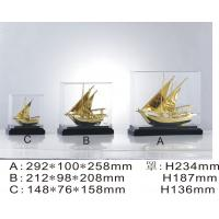 China Engrave Arab Business boat Metal Golden Ship Model with 24k gold plating on sale