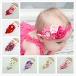 Buy cheap Baby Girl Rose Flower elastic headband Hair Ribbon Baby hair band children hairaccessorie product