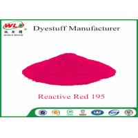 Buy cheap Powder Fabric Dye Reactive Red WBE C I Red 195 Reactive Dyes High Fastness product