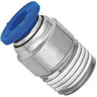 Buy cheap Brass Nickel Planting Pneumatic NPT Threaded Fittings Push In Male Straight Run Body product