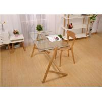 Buy cheap Glass And Wood Modern Solid Wood Coffee Table Practical Highly Endurable product