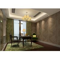 Buy cheap Home Furnishing Washable Vinyl Wallpaper Embossed Brown Leaf Pattern product