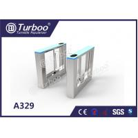 Buy cheap Stable Office Security Gates / Optical Barrier Turnstiles RFID Card Reader product