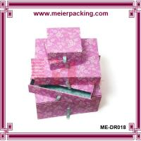 China Paper Gift Boxes/Slide Drawer Paper Jewelry Box/Birthday Presentation Box ME-DR018 on sale