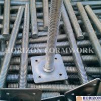 China Tubular Scaffold Screw Jack High Tensile Steel Adjusting Scaffolding Heights for sale