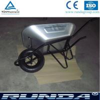 Buy cheap galvanized color tray metal commercial wheelbarrow wb6400 for south africa market,industrial wheelbarrow for sales product