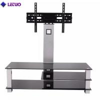 China B64BT TV Stand with Bracket Mount and 3-Tier Glass Shelves for 37 to 60 Inch Plasma/LCD/LED TVs on sale